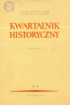 Kwartalnik Historyczny R. 82 nr 2 (1975), Title pages, Contents