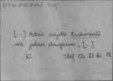 Kartoteka Słownika Gwar Ostródzkiego, Warmii i Mazur, Suplement; Nowe archiwum, Uskarżać się-Wypęczyć