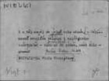 Kartoteka Słownika Gwar Ostródzkiego, Warmii i Mazur; Suplement; Hasła przepisane; Wielki-Złośliwy