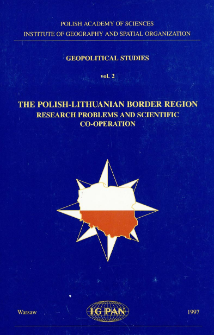 The Polish-Lithuanian border region : research problems and scientific co-operation