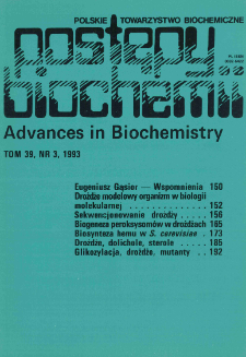 Postępy biochemii, Tom 39, Nr 3