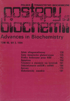 Postępy biochemii, Tom 40, Nr 3