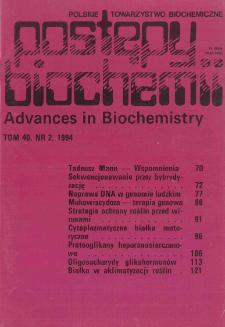 Postępy biochemii, Tom 40, Nr 2
