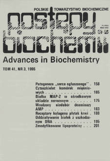 Postępy biochemii, Tom 41, Nr 3