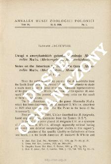 Notes on the American species of the genus Mesovelia Muls. (Heteroptera, Mesoveliidae)