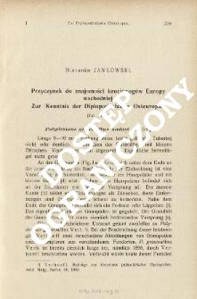 Przyczynek do znajomości krocionogów Europy wschodniej