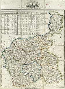 Karta Królestwa Polskiego obejmująca wszystkie miasta i wsie a mianowicie kościelne, wszelkie trakty pocztowe i komory celne podług ostatniego urządzenia tudzież rys statystyczny tegoż Królestwa