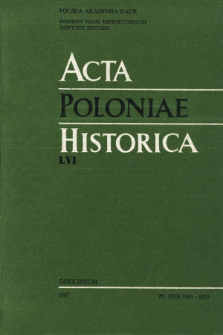 Acta Poloniae Historica. T. 56 (1987), Title pages, Contents