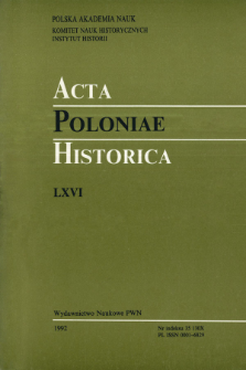 Acta Poloniae Historica. T. 65 (1992), Title pages, Contents