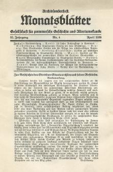 Monatsblätter Jhrg. 52, H. 4 (1938)