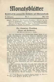 Monatsblätter Jhrg. 52, H. 5 (1938)
