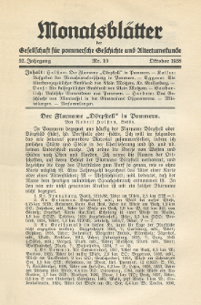 Monatsblätter Jhrg. 52, H. 10 (1938)