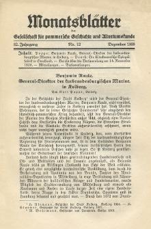 Monatsblätter Jhrg. 52, H. 12 (1938)