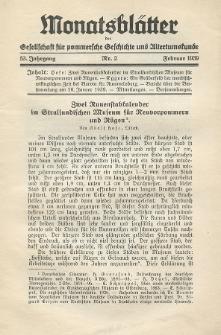 Monatsblätter Jhrg. 53, H. 2 (1939)