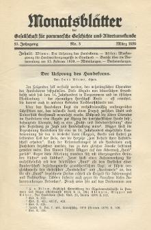 Monatsblätter Jhrg. 53, H. 3 (1939)