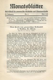 Monatsblätter Jhrg. 53, H. 5 (1939)