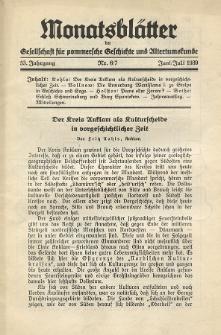 Monatsblätter Jhrg. 53, H. 6/7 (1939)