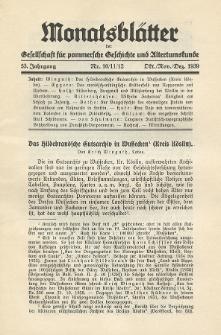 Monatsblätter Jhrg. 53, H. 10/11/12 (1939)