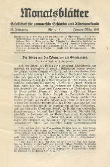 Monatsblätter Jhrg. 55, H. 1-3 (1941)