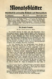 Monatsblätter Jhrg. 55, H. 4-6 (1941)