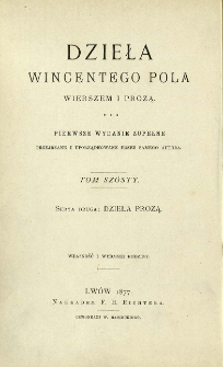 Dzieła prozą Wincentego Pola. T. 3.