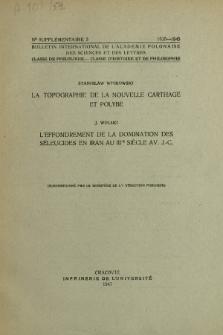 La topographie de la Nouvelle Carthage et Polybe.