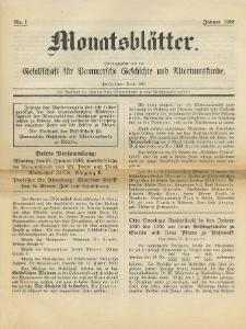 Monatsblätter Jhrg. 32, H. 1 (1918)