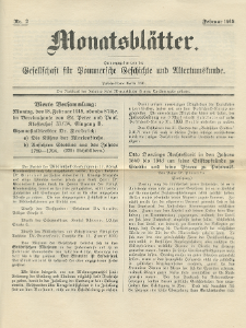 Monatsblätter Jhrg. 32, H. 2 (1918)