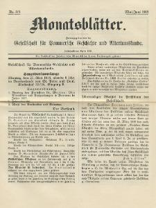 Monatsblätter Jhrg. 32, H. 5/6 (1918)