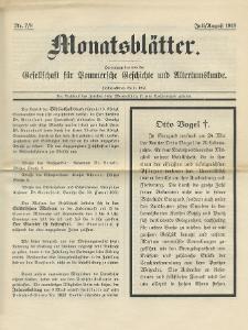 Monatsblätter Jhrg. 32, H. 7/8 (1918)