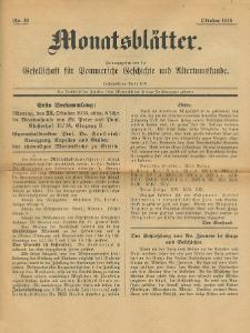 Monatsblätter Jhrg. 32, H. 10 (1918)