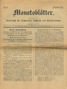 Monatsblätter Jhrg. 32, H. 11 (1918)