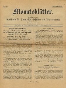 Monatsblätter Jhrg. 32, H. 12 (1918)
