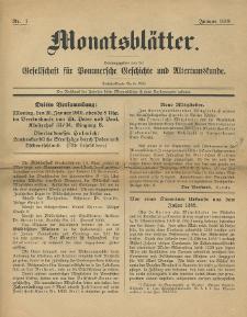 Monatsblätter Jhrg. 33, H. 1 (1919)