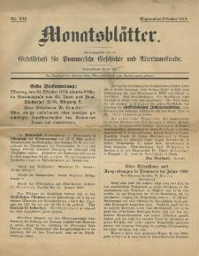 Monatsblätter Jhrg. 33, H. 9/10 (1919)