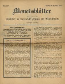Monatsblätter Jhrg. 34, H. 9/10 (1920)