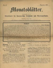Monatsblätter Jhrg. 34, H. 12 (1920)