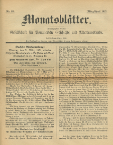 Monatsblätter Jhrg. 35, H. 3/4 (1921)