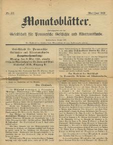 Monatsblätter Jhrg. 35, H. 5/6 (1921)