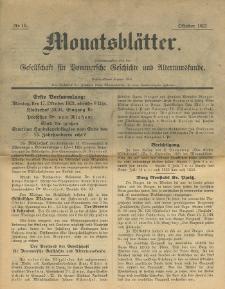 Monatsblätter Jhrg. 35, H. 10 (1921)