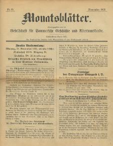 Monatsblätter Jhrg. 35, H. 11 (1921)