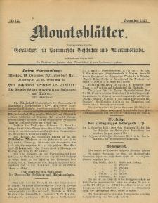 Monatsblätter Jhrg. 35, H. 12 (1921)