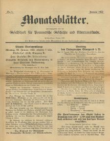Monatsblätter Jhrg. 36, H. 1 (1922)