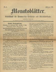 Monatsblätter Jhrg. 36, H. 2 (1922)