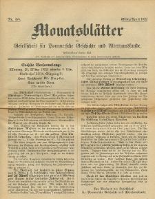 Monatsblätter Jhrg. 36, H. 3/4 (1922)