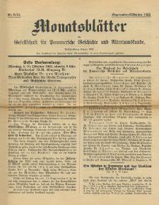 Monatsblätter Jhrg. 36, H. 9/10 (1922)