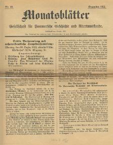 Monatsblätter Jhrg. 36, H. 12 (1922)