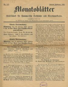 Monatsblätter Jhrg. 37, H. 1/2 (1923)
