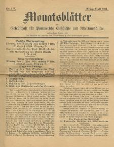 Monatsblätter Jhrg. 37, H. 3/4 (1923)