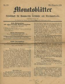 Monatsblätter Jhrg. 37, H. 5-12 (1923)